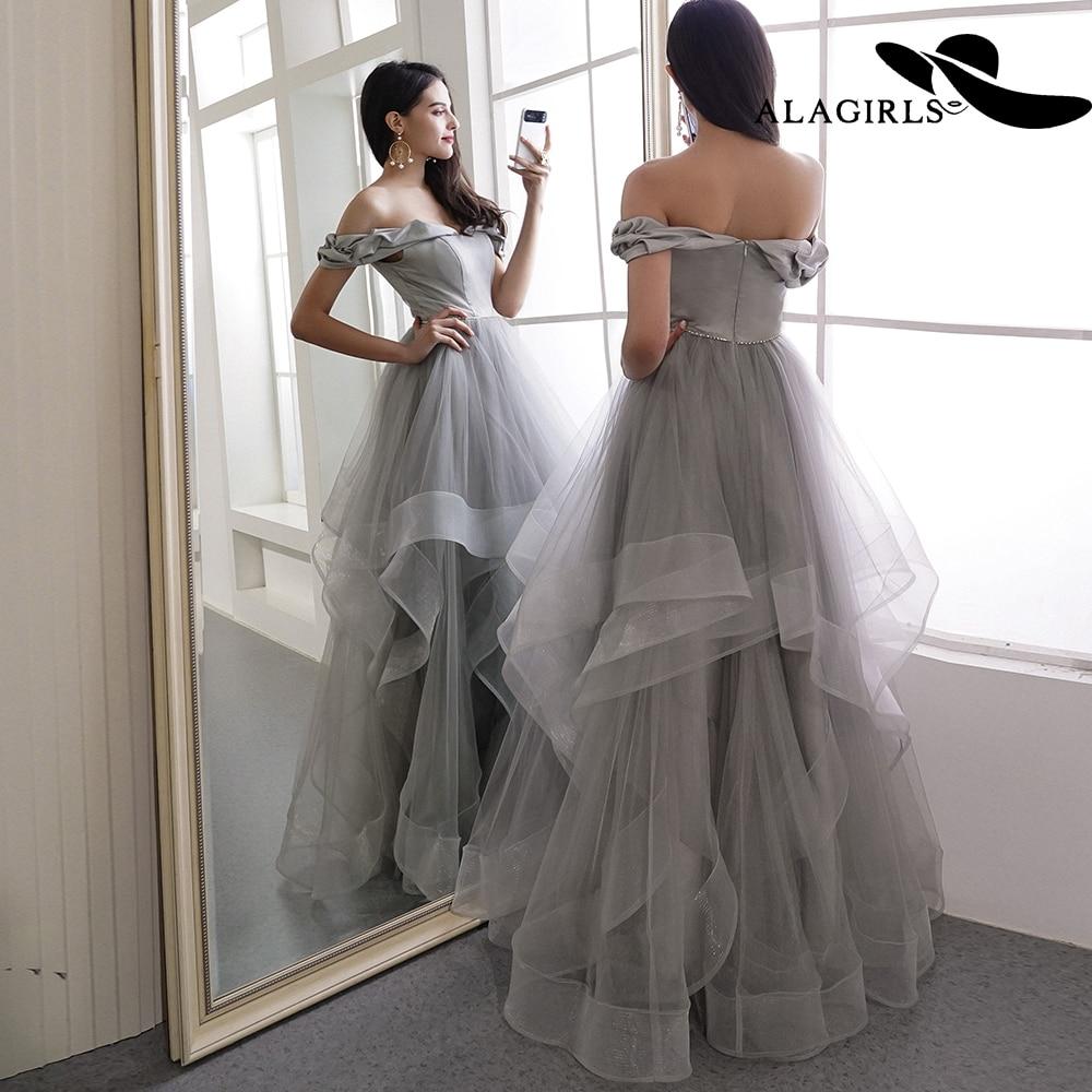 Alagirls 2019 New Arrival A Line   Evening     Dress   Elegant Off The Shoulder   Evening   Gowns Elegant Party   dress   Vintage Prom   Dresses