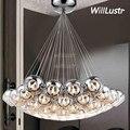 Современный светодиодный подвесной светильник в виде хрустального шара  подвесной светильник в стиле чердака  лестницы  отеля  зала  полусе...