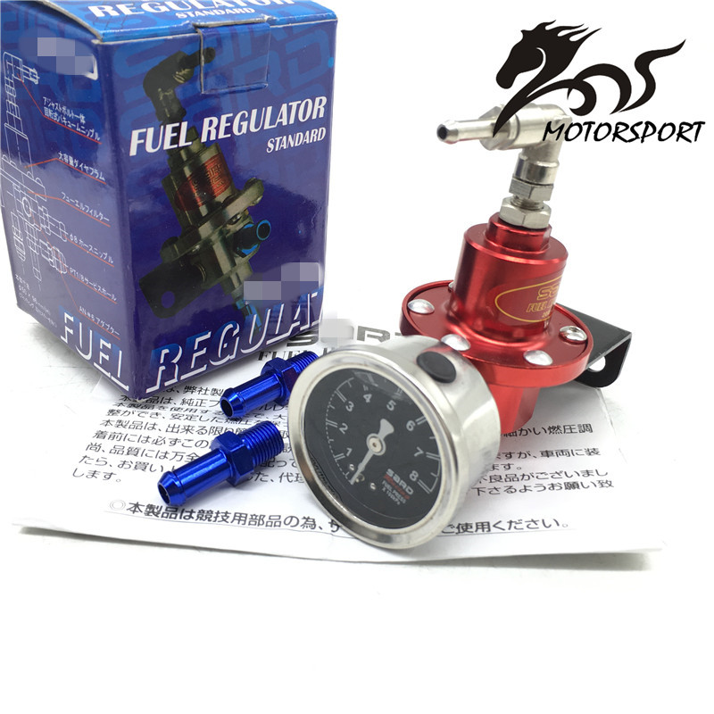 Universal Adjustable SARD Style Fuel Pressure Regulator With Original Gauge And Instructions