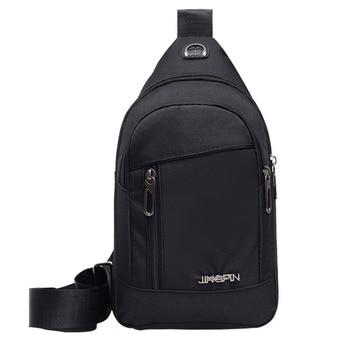 Fashion Men's Outdoor Sports Oxford Cloth Crossbody Shoulder Bag Breast Bag Waist Bag Y415 2