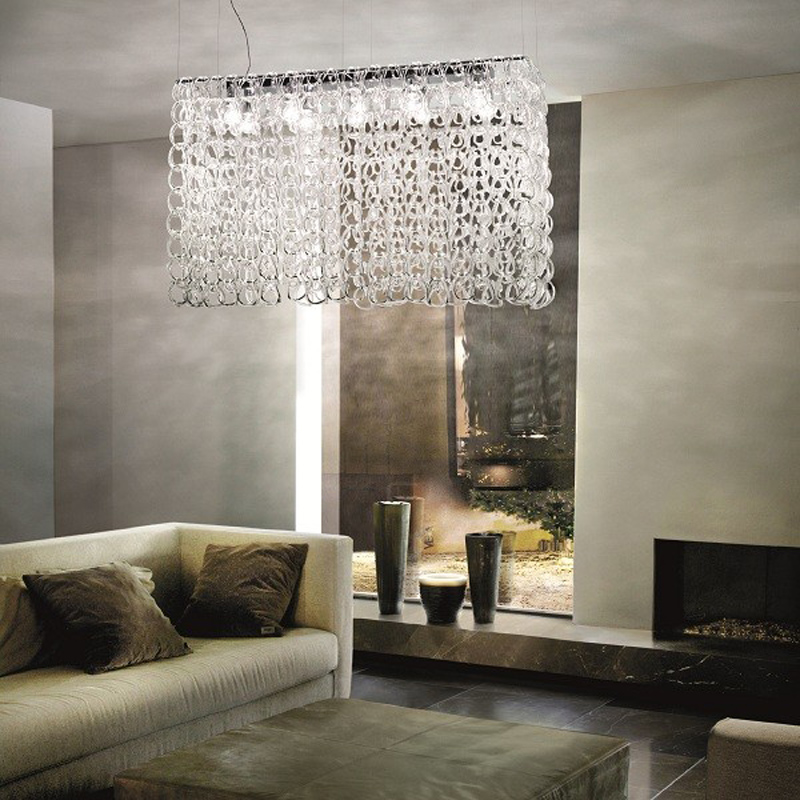 Giogali PL 50/ 60/ 80 Pendant Suspension Light By Angelo Mangiarotti from Vistosi Lighting Fixture Hanging Lamp