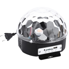 Mini LED Laser Projector MP3 DJ Club Disco Party Music Crystal Magic Ball Stage Lamp RGB Xmas Spot Light With USB Disk+Remote