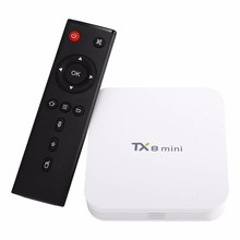 smart tv box TX8 mini Android 6.0 Marshmallow Amlogic S912 TV BOX 2G/16G 802.11ac 1000M LAN WIFI Bluetooth TF CARD Support 1~32