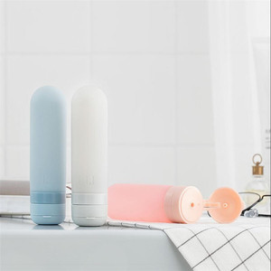 Image 4 - Оригинальная бутылка Youpin U Travel Sub, силиконовая, портативная, легкая, мягкая, приятная для кожи, полезный, безопасный 50 мл x 3 шт., синяя, розовая, серая