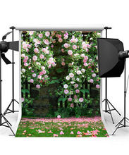 Romantic Wedding Background Photo Studio Photo Props Vinyl 5x7ft or 3x5ft Flowers Photography Backdrops jiegq205