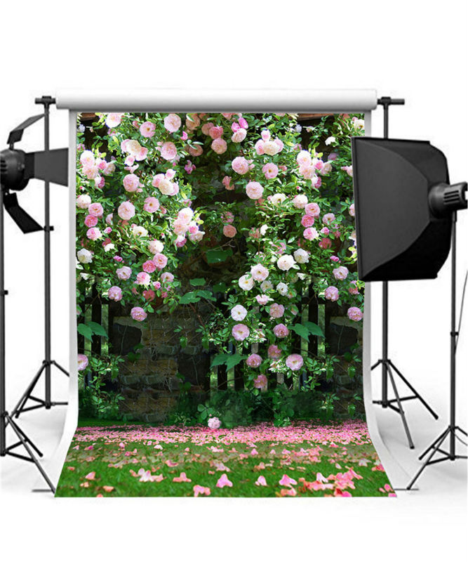 Romantic Wedding Background Photo Studio Photo Props Vinyl 5x7ft or 3x5ft Flowers Photography Backdrops jiegq205 200 300cm wedding background photography custom vinyl backdrops for studio digital printed wedding photo props