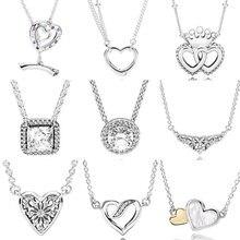960968bf0930 Abierto brillante corazones de palanca cierre clásico intemporal elegancia  Collar para mujer