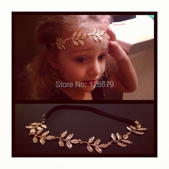 2018 New Fashion Bohemian Gold Leaf Princess Child Kids Headband Hairband Head Chain Pieces Headdress Hair Jewerly Accessary