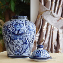 European style decoration hand-painted blue and white porcelain vase general export jar Home Furnishing jewelry crafts