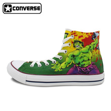 High Top Converse All Star Women Men Shoes Dead Lifters Hulk Design Hand Painted Sneakers Boys Girls Shoes Christmas Gifts
