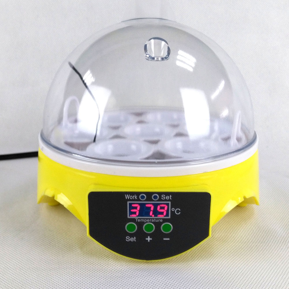 7 Eggs Digital Automatic Poultry Hatcher Hatching Incubator Chicken Duck Bird