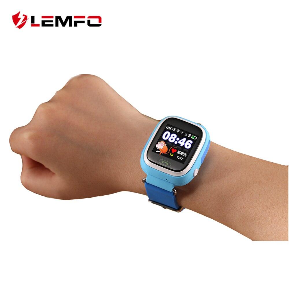 LEMFO Q90 reloj inteligente Niños SOS alarma Reloj GPS WIFI Bluetooth Anti-Perdida tarjeta SIM para los niños relojes de teléfono de regalo