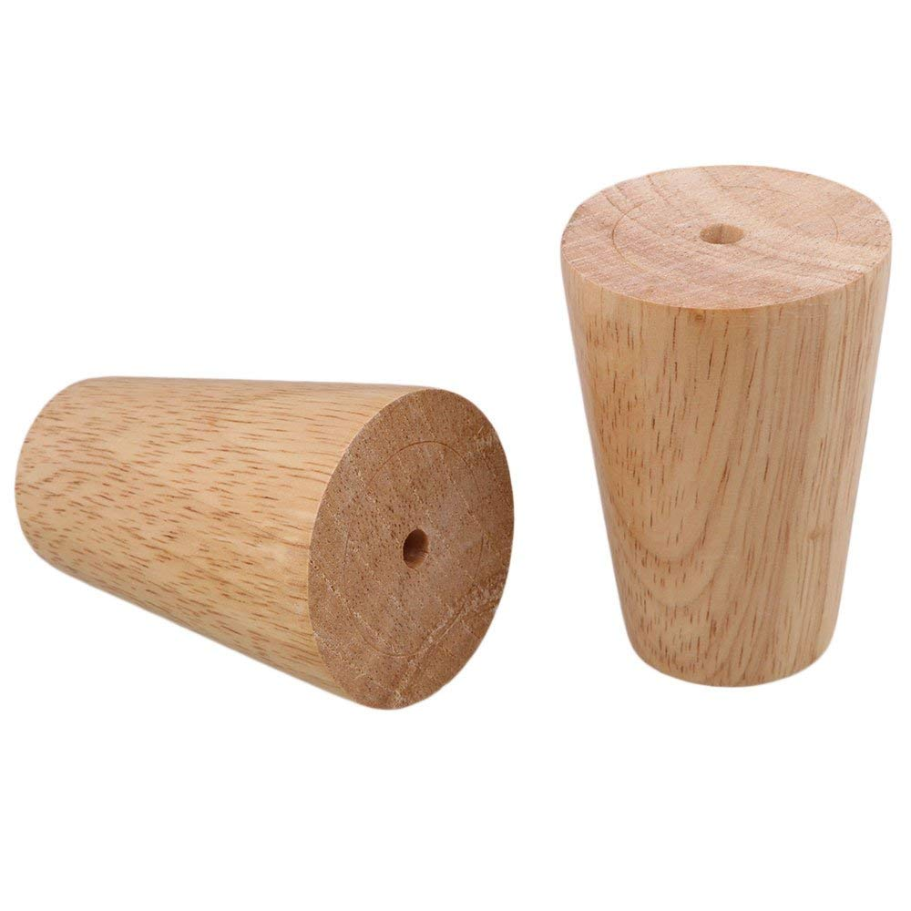 Image 3 - 4Pcs NEW Natural Wood Reliable 80x58x38mm Wood Furniture Leg Cone Shaped Wooden Feet for Cabinets Soft Table-in Furniture Legs from Furniture