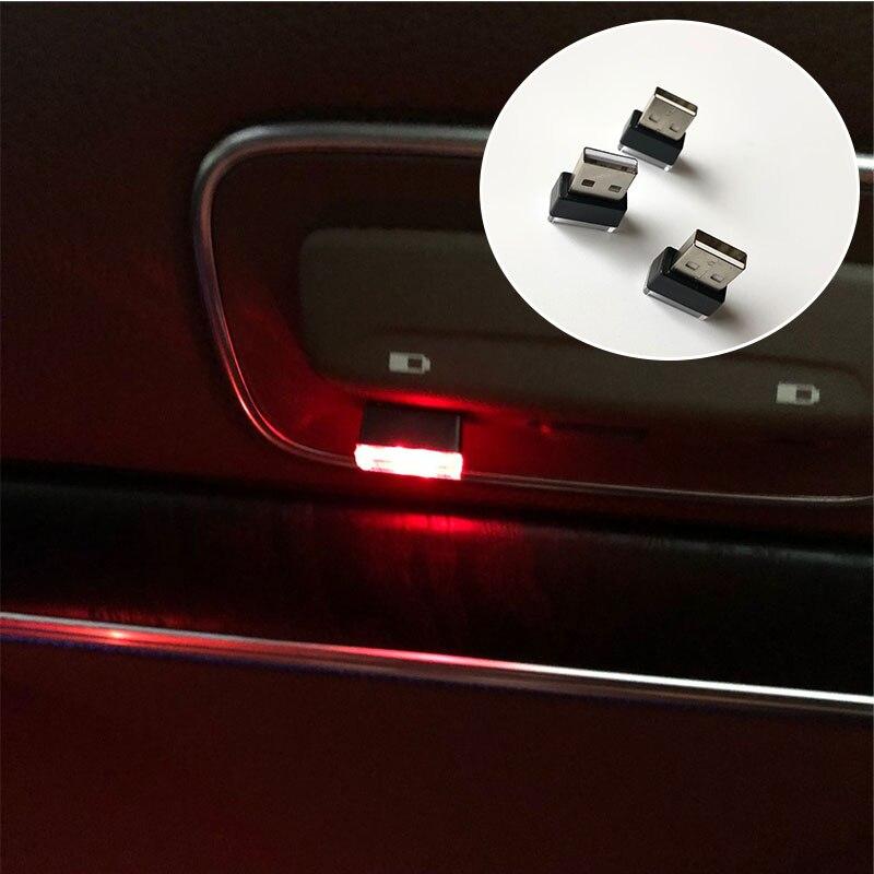 1Pc Car USB Atmosphere Lamp For SEAT Ibiza Leon Toledo Arosa Arona Alhambra Exeo FR Supercopa Mii Altea Cordoba Cupra Concept