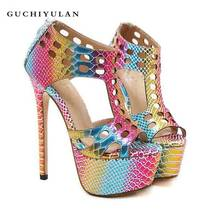 469ea174f5762 zapatos mujer cuero genuino 2018 Fashion Sandals Pumps Shoes Women Luxury  Platform Wedges Shoes escarpins sexy