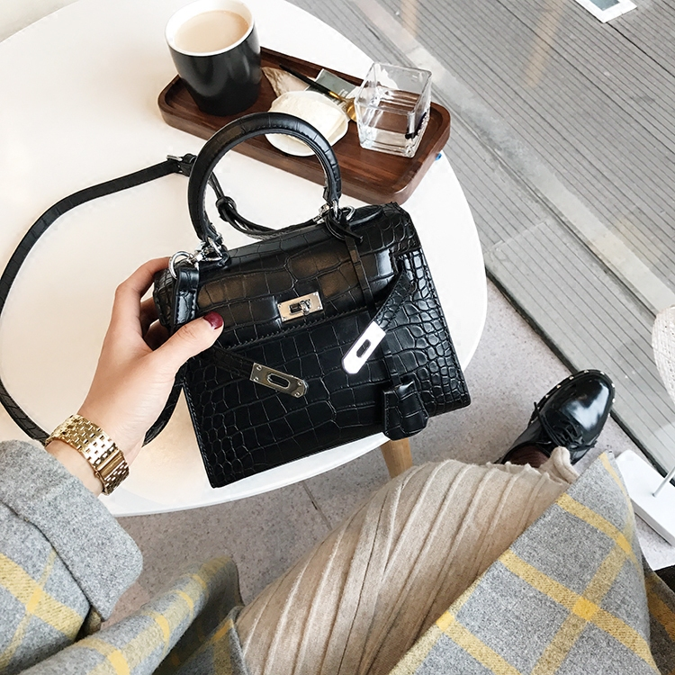Luxe Imprimé Black Main Crocodile Sac Épaule Designer De gray 2018 Sacs Femmes brown À Mini FTaqTnI8