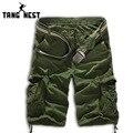Tangnest 2017 venta caliente ocasional del verano hombres pantalones cortos de camuflaje de la moda Pantalones Cortos hasta la Rodilla Hombres Plus 8 Colores Tamaño Asiático 38 MKD357