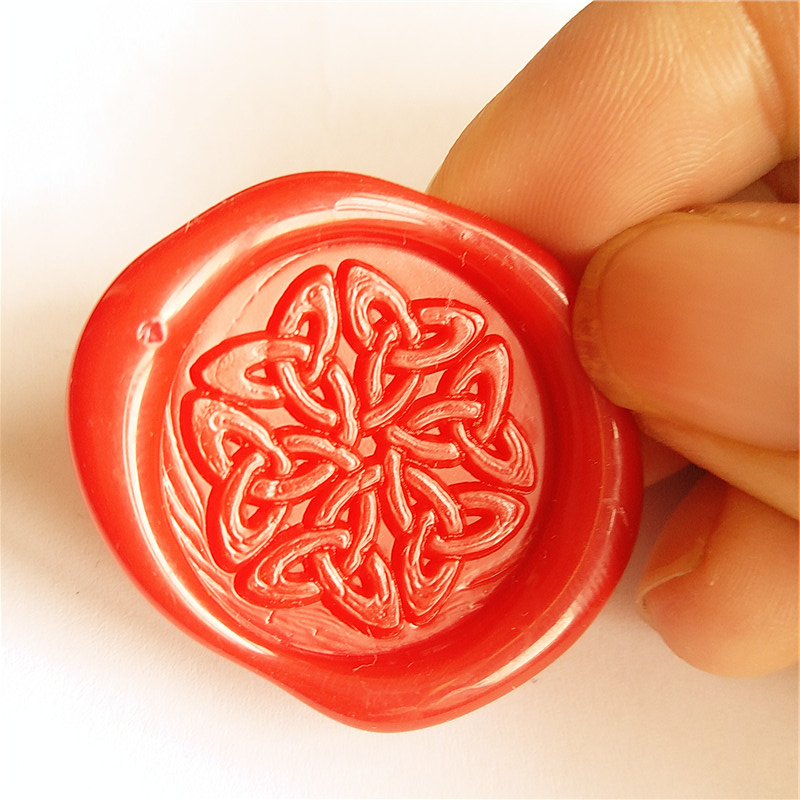Gold Plated Wax Seal Stamp Custom Wedding Invitation stamp Decorative pattern Wax Stamp Ancient Symbols in Celtic Style диски helo he844 chrome plated r20