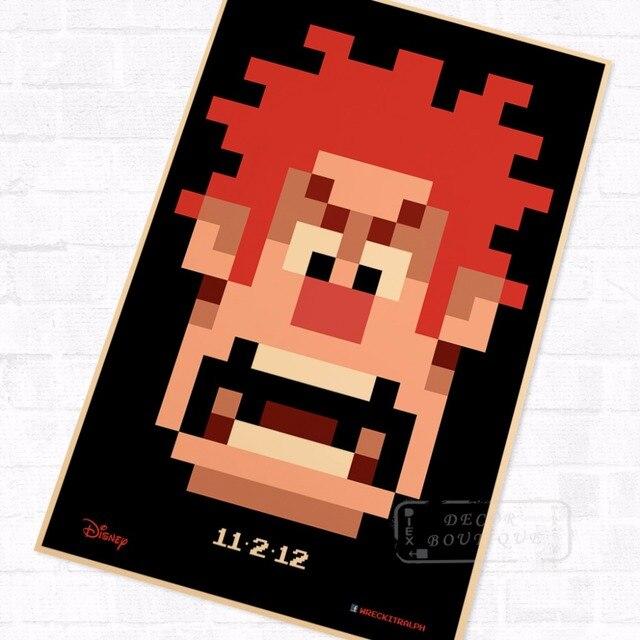 Pacman 8 Bit Character Vintage Video Games Propaganda Poster Retro ...