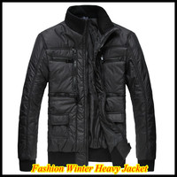 Brand Men S Zipper Placket Winter Jacket 2013 New Fashion Slim Heavy Cotton Coat QR 4970
