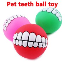 2016 New Pet Toys Evade Glue Teeth Ball Dog Bites Pet Teech Health Necessary