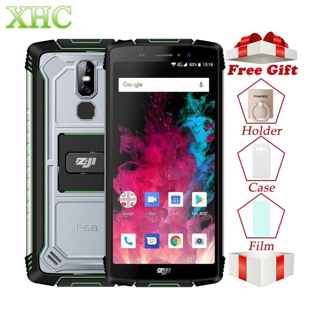 HOMTOM ZOJI Z11 téléphone portable 4 GB + 64 GB IP68 étanche 10000 mAh empreinte digitale déverrouiller 5.99 ''Android 8.1 Octa Core Smartphone double SIM