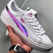 276ed0005 Puma plataforma arco iris de las mujeres zapatos de bádminton 362223-05  púrpura blanco Color Rihanna zapatos Wn es la zapatilla .