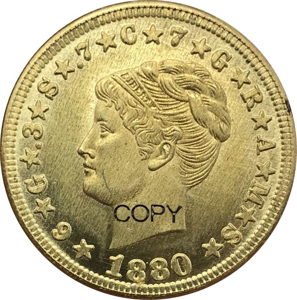 Estados Unidos da América Dólares 4 Padrão Quatro Dólares Um Stella Stella 400 Centavos 1879 Moedas de Ouro 1880 de Metal de Bronze moedas de cópia