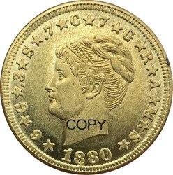 Vereinigten Staaten von Amerika 4 Dollar Stella Muster Vier Dollar Eine Stella 400 Cent Gold Münzen 1879 1880 Messing Metall kopie Münzen