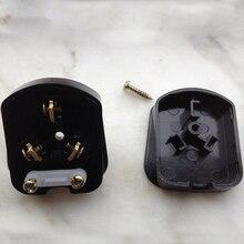 Трехфазный-контактный разъем Медь 10A слабый плоский разъем Пластик ПВХ черный