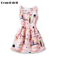 שמלת נסיכת ילדה ילד 6-12 שנים ילדים ללא שרוולים סתיו וחורף שמלות לפעוטות ילדי ילדה פאייטים אופנה בגדים