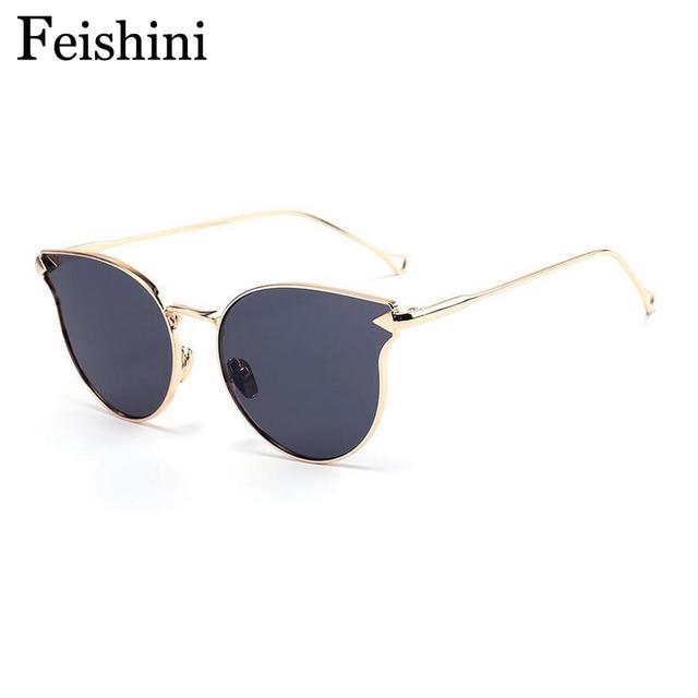 e7ede705294c FEISHINI Shop Counters Cat eye Sunglasses Women Brand Designer Luxury High  Quality UV Protective Eyewear A modified Face Glasses
