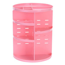 360-degree Rotating Make Up Organizer Display Stand Makeup Storage Of Cosmetics Box Case Dressing Table Cosmetic Organizer Black(China)