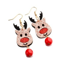 2018 New Christmas Earrings Fashion Santa Claus Christmas Tree Dangle Earrings Women Ear Studs New Year Gift Female Brincos santa claus enamel christmas dangle earrings
