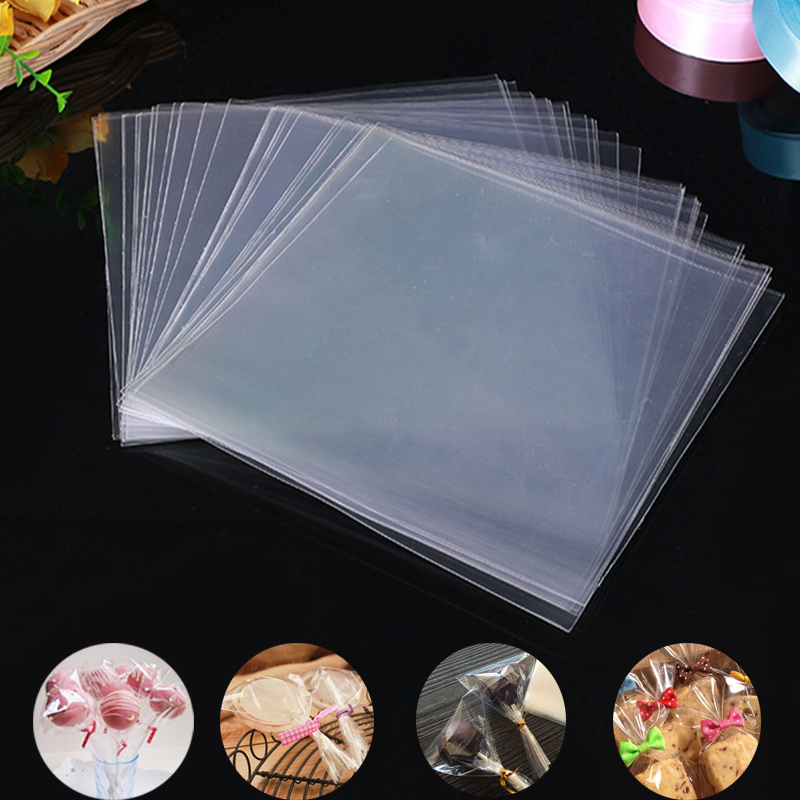 100pcs/Bag Transparent Opp Plastic Bags For Candy Lollipop Cookie Packaging Cellophane Bag Wedding Party Gift Bag(China)