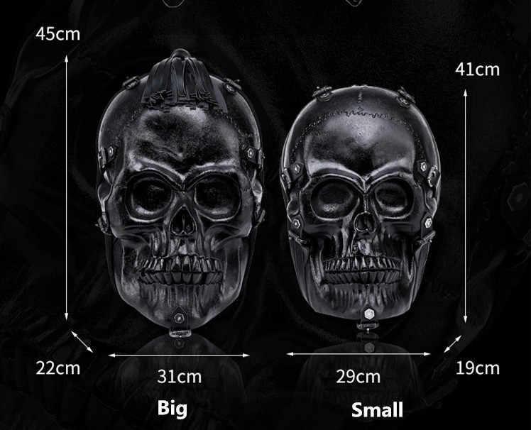 Новый В панк-Локомотив стиле 3D череп мужской рюкзак уличный тренд хип-хоп забавная мужская сумка на плечо черная кожаная дорожная классная Сумка Рюкзаки
