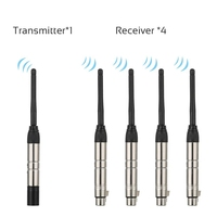 Dmx512 2.4G Ism Wireless 5Pcs Transmitter Receiver Kit For Party Dj Show Club Disco Ktv Stage Light