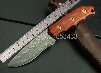 SK023 damascus steel knife blade hunting knife  wood handle handmade damascus forged steel knife EDC knife цены онлайн
