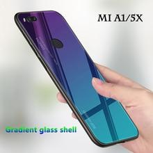 Градиентный чехол для телефона для Xiaomi mi A1 чехол для Xiao mi my A1 5X mi 5X mi A1 стеклянный цветной чехол для mi A 1 5 X Закаленное Стекло