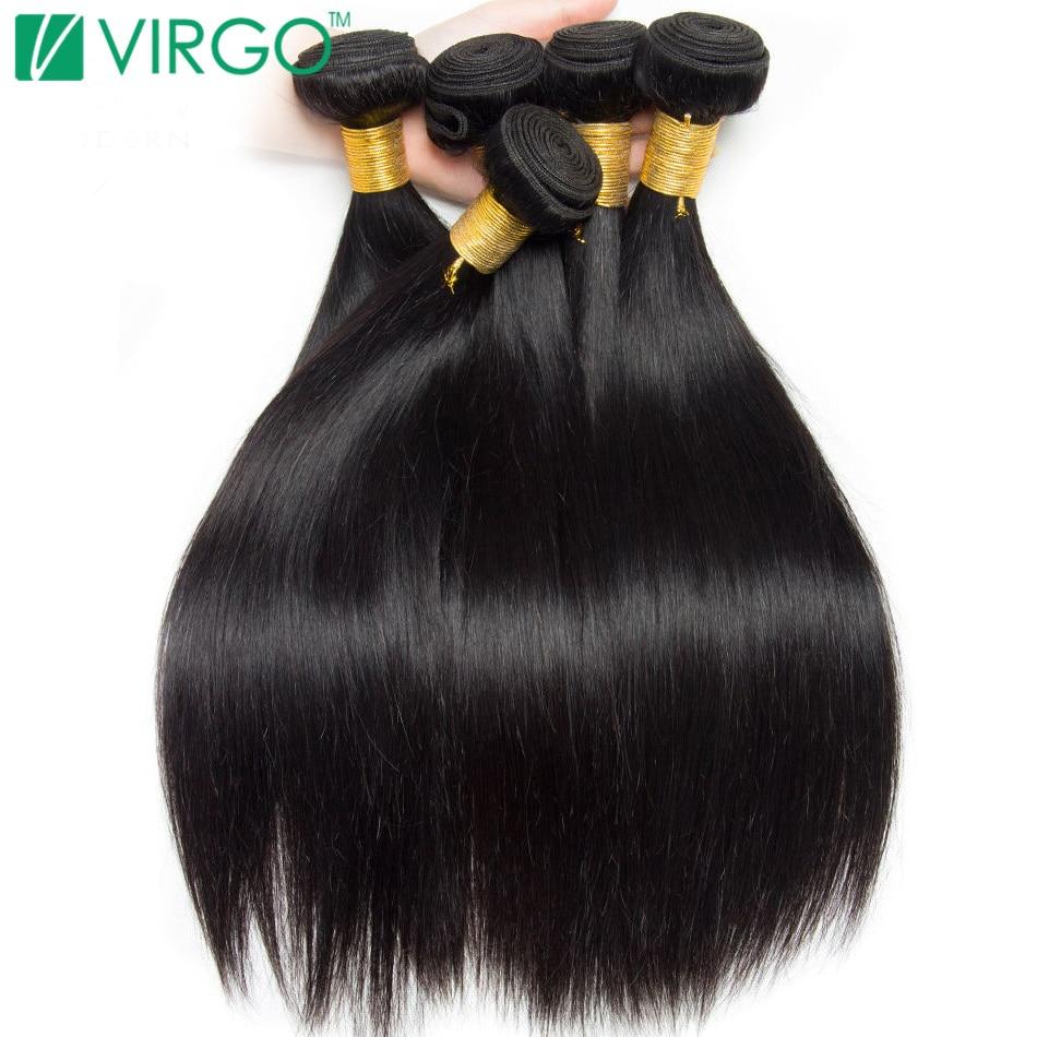 Peruvian Straight Hair Bundles Human Hair Extensions Natural Color 1 / 3 / 4 Bundle Deals