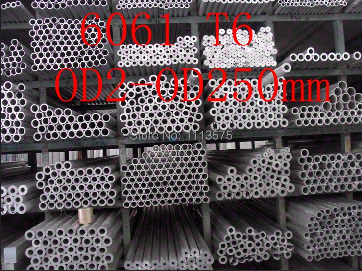 OD2-OD250mm 6061 T6 Al aluminium thick wall precision industry tube pipe цены