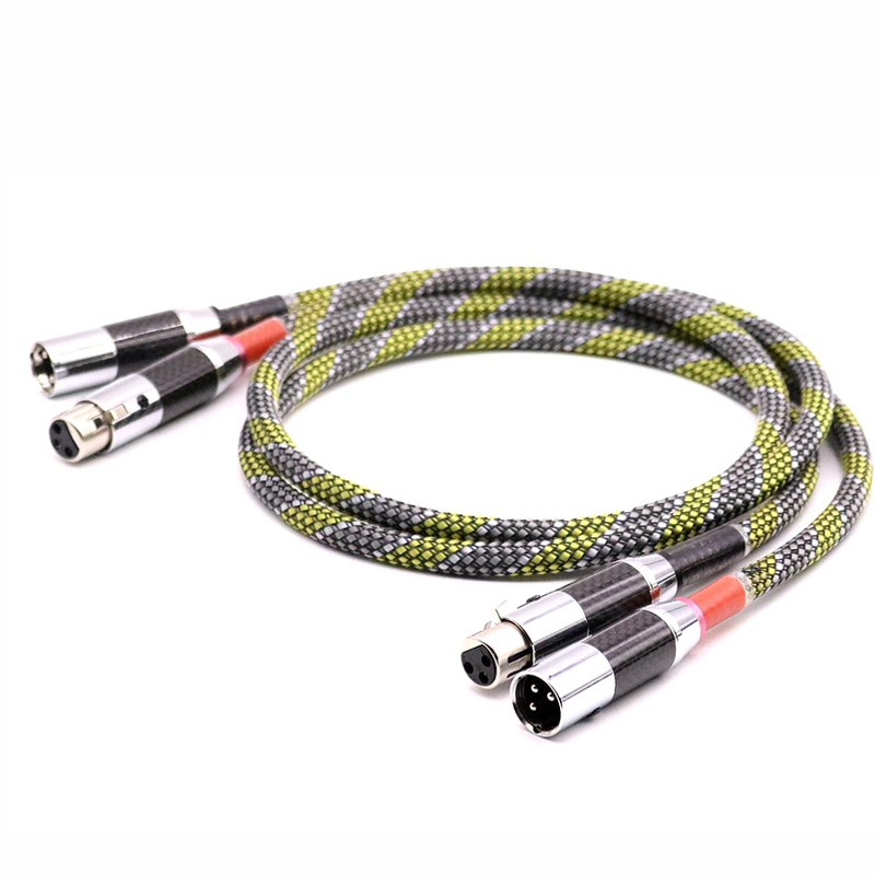 HI End SQ 888 G5 5N OFC silver plated audio balanced interconnect cable with Carbon fiber