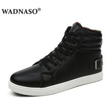 WADNASO women Winter Boots Brand Hot Newest Keep Warm High Quality pu Leather Wear Resisting Casual Shoes Working Boot black цена 2017