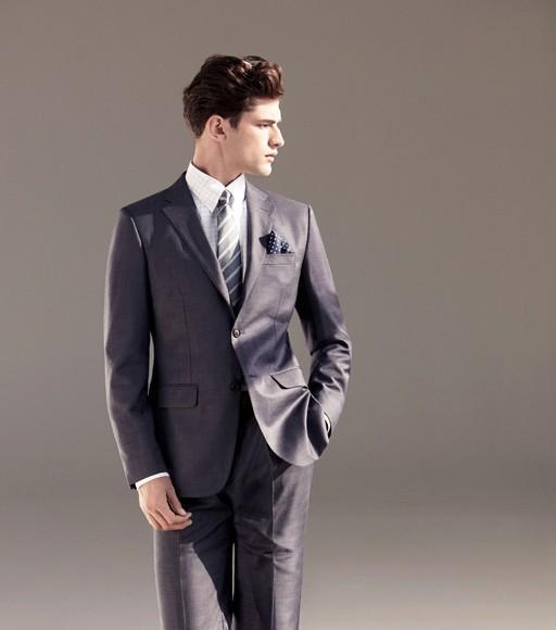 Dark Blue Groom Dress Men S Clothes Turndown Best Slimming Wedding Two Suits Ons
