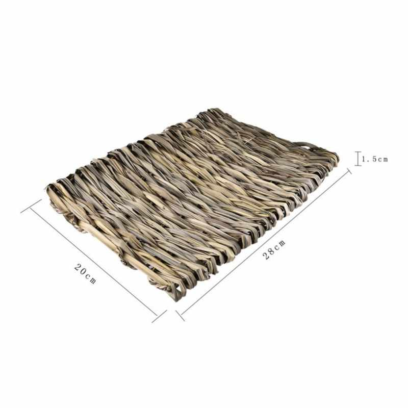 Hamster Tikar Rumput untuk Kelinci Kandang untuk Alam Kecil PET 100% Buatan Tangan Anyaman Jerami Hewan Peliharaan Sarang Tempat Tidur untuk Totoro guinea Pig Hewan