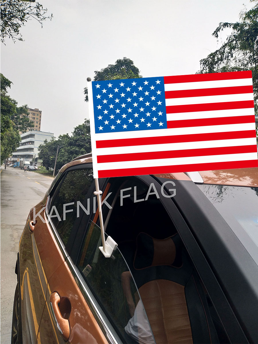 US $7 6 24% OFF|KAFNIK,30*45CM American/USA/United States Window Car Flags  and Banners Small Outdoor Polyester Print Flag Custom Flags-in Flags,