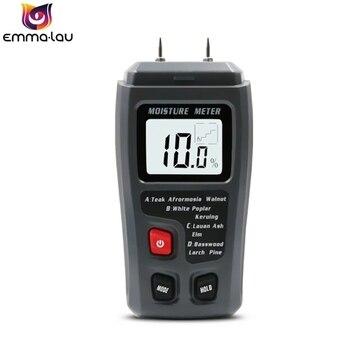 0-99.9% портативный измеритель влажности древесины Цифровые контакты тестер влажности древесины гигрометр деревянный пол коробка измеритель...