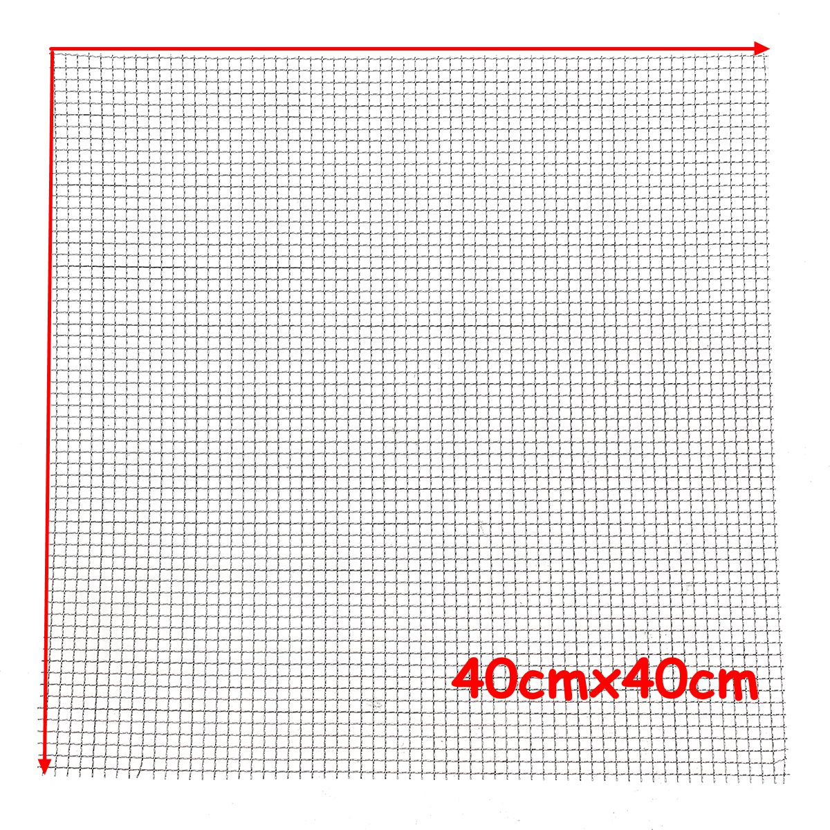 NEW Stainless Steel 304 Mesh #4 .047 Wire Cloth Screen Filter 16''x16'' 40cm x 40cm pa
