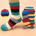 4 pairs/детские носки 2016 осенью и зимой хлопок моды полосатый толстые махровые носки 1-9 летний мальчик/девочка носки
