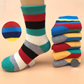 4 pairs / children's socks 2016 autumn and winter cotton fashion striped thicker terry baby socks 1-9 year-old boy / girl socks